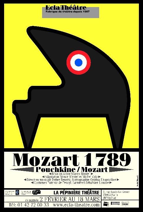 affiche N¡3 Mozart 1789