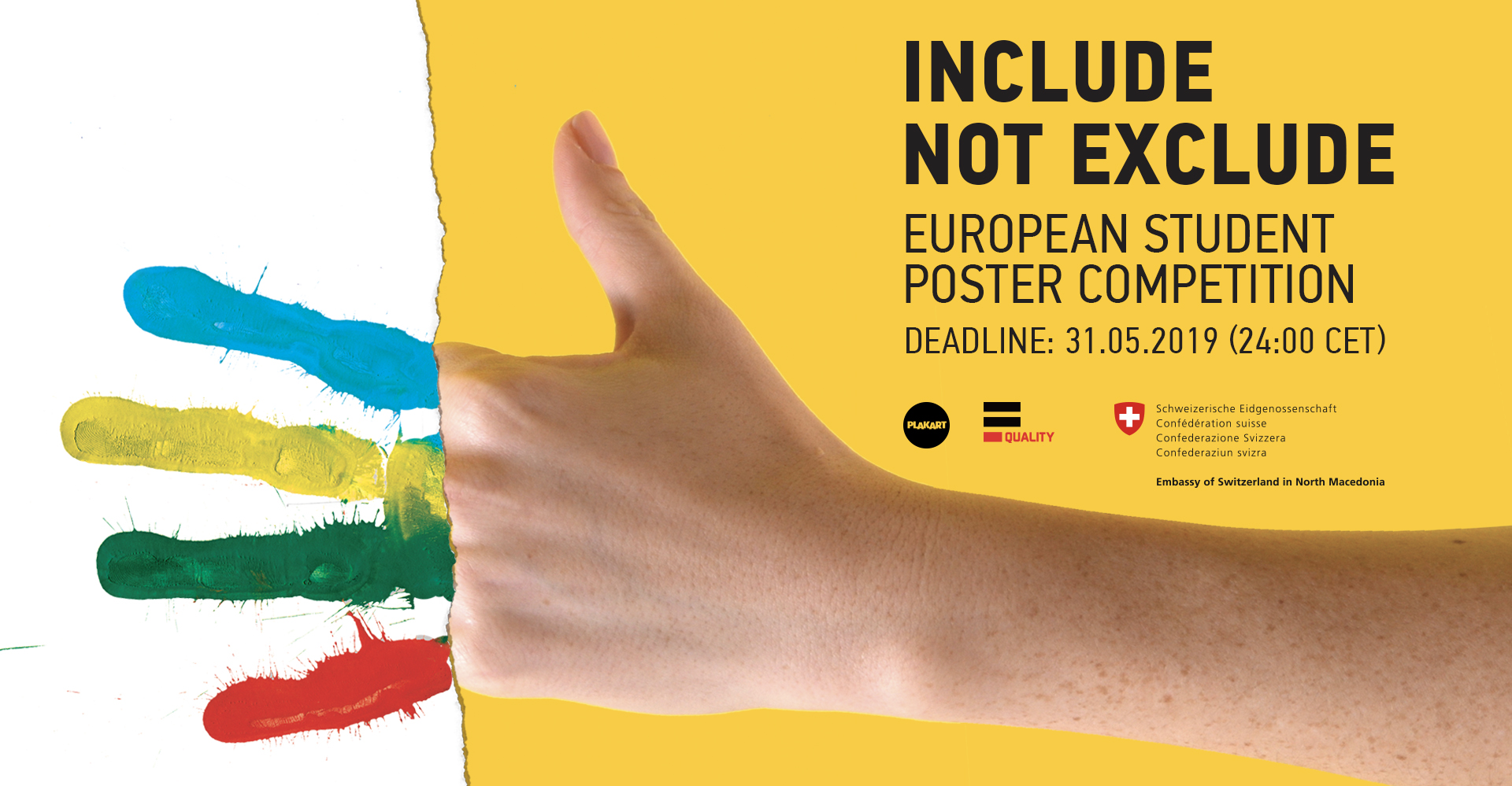 "Celebration of Winners of the European poster competition  ""Inclusion, Not Exclusion"" with Humanitarian Creative Event"